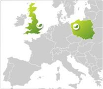 UK Poland map